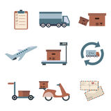 Delivery icons set shipping. Service collection. Vector Royalty Free Stock Image