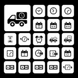 Delivery icons set Stock Images