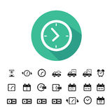 Delivery icons set Royalty Free Stock Image