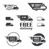 Delivery icons Stock Images