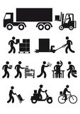 Delivery icons Stock Photo