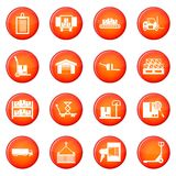 Delivery icons vector set Royalty Free Stock Photo