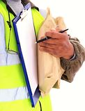 Delivery. Image of a delivery man at work Royalty Free Stock Images