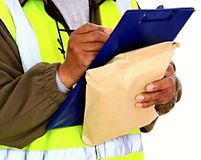 Delivery. Image of a delivery man at work Royalty Free Stock Photography
