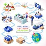 Delivery 04 Infographic Isometric Stock Photo