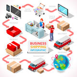 Delivery 01 Infographic Isometric Royalty Free Stock Photo