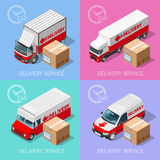 Delivery 07 Infographic Isometric Stock Photos