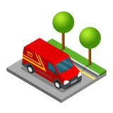 Delivery isometric 3d van car truck cargo Royalty Free Stock Images
