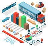 Delivery Isometric Infographics Royalty Free Stock Image