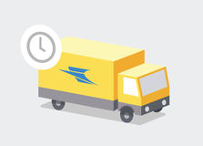 Delivery just in time, Post bus Stock Image