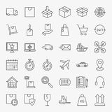 Delivery Line Icons Set vector illustration
