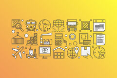 Delivery and logistics illustration Royalty Free Stock Photo