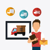 Delivery and logistics Stock Image