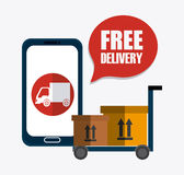 Delivery and logistics Royalty Free Stock Photos