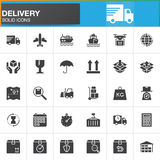 Delivery and logistics vector icons set, modern solid symbol collection  Stock Photo