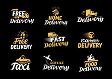 Delivery logo. Shipping vector icons set Stock Images