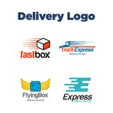 Delivery Logo Template Stock Images