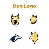 Dog Logo Template Stock Images