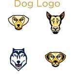 Dog Logo Template Stock Photography