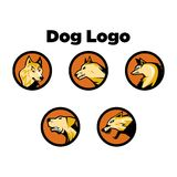 Dog Logo Template Royalty Free Stock Photography