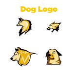 Dog Logo Template Stock Photo