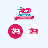 Delivery logo Royalty Free Stock Photos