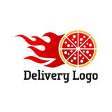 Delivery logo vector template stock illustration