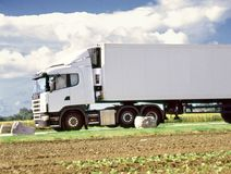 Delivery by lorry Royalty Free Stock Images