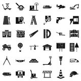 Delivery lorry icons set, simple style. Delivery lorry icons set. Simple set of 36 delivery lorry vector icons for web isolated on white background Stock Image