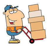 Delivery Man. Happy Smiling Delivery Man working royalty free illustration