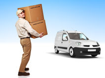 Delivery man Stock Images
