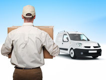 Delivery man Royalty Free Stock Photos