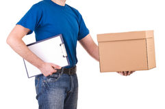 Delivery man. Royalty Free Stock Photos