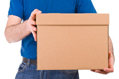 Delivery man. Royalty Free Stock Image