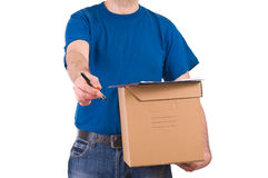Delivery man. Stock Photography