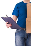 Delivery man. Stock Photo