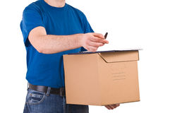 Delivery man. Royalty Free Stock Images