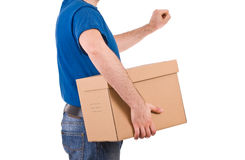 Delivery man. Royalty Free Stock Photography