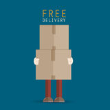 Delivery man cartoon Stock Images