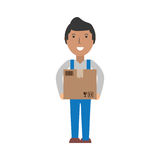 Delivery man cartoon Stock Photography