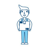 Delivery man cartoon Royalty Free Stock Photo