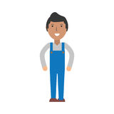 Delivery man cartoon Royalty Free Stock Image