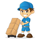 Delivery Man with trolley Stock Photography