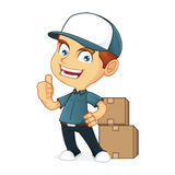 Delivery Man giving thumb up Royalty Free Stock Photography
