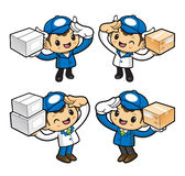 Delivery Man Character is article is expected to far. Royalty Free Stock Image