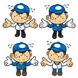 Delivery Man Character is flare up in anger. Stock Images