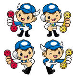Delivery Man Character Please call me today. Royalty Free Stock Image