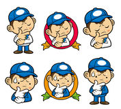 Delivery Man Character That problem is such a headache. Royalty Free Stock Photos