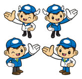 Delivery Man Character Provide direction. Royalty Free Stock Image
