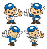 Delivery Man Character is to provide the best service. Stock Images